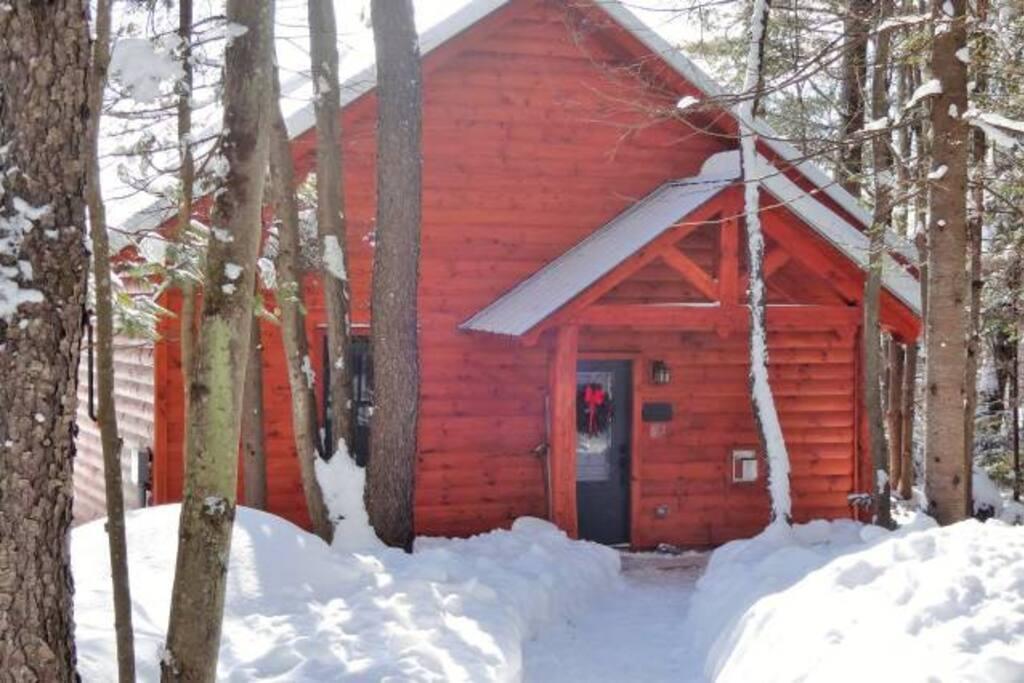 Peak Perspective's Front Door in Winter