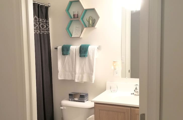 Private bathroom with amenities