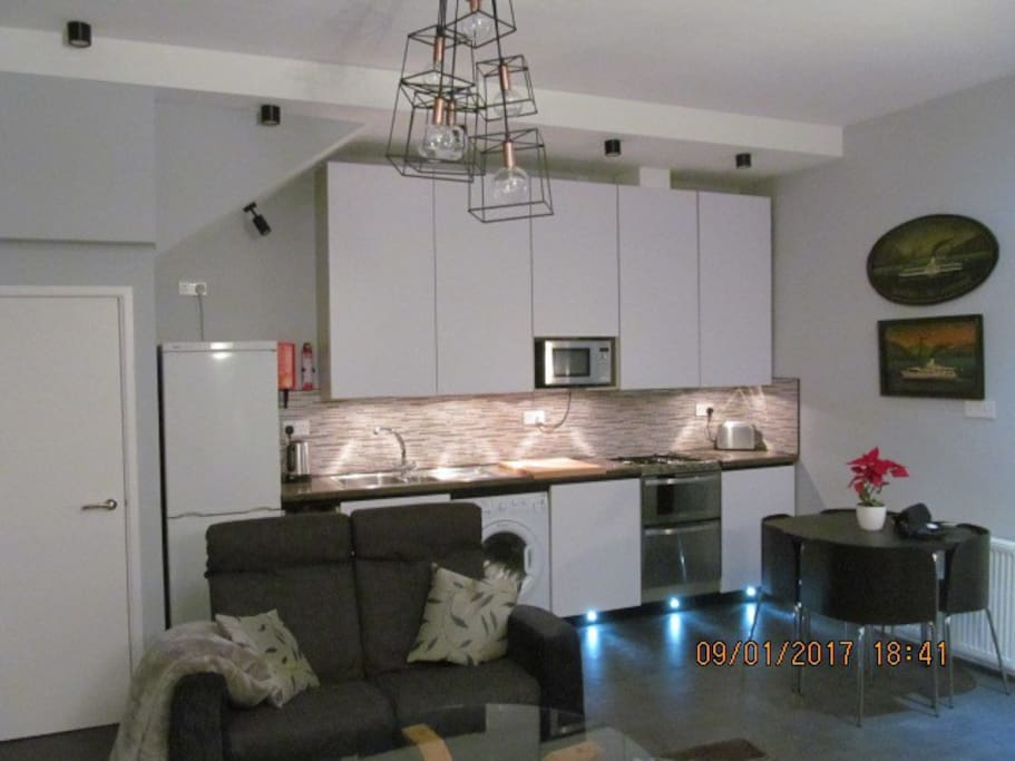 Open plan kitchen and dining with all mod cons