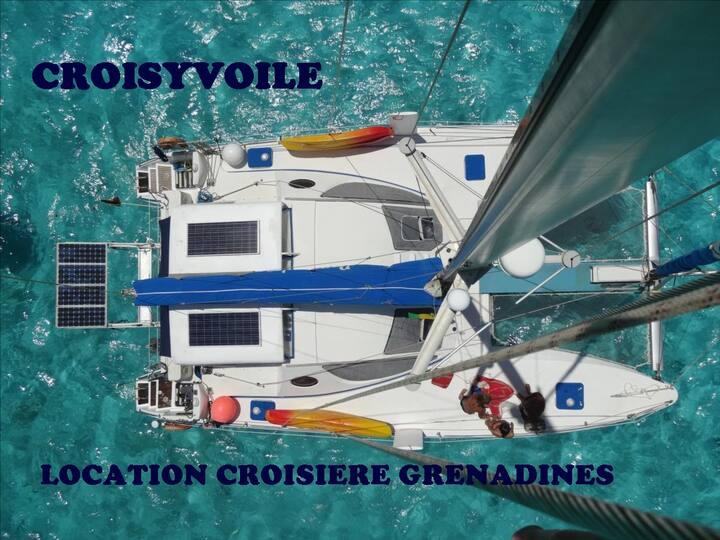 Location catamaran croisiere grenadines  equipage