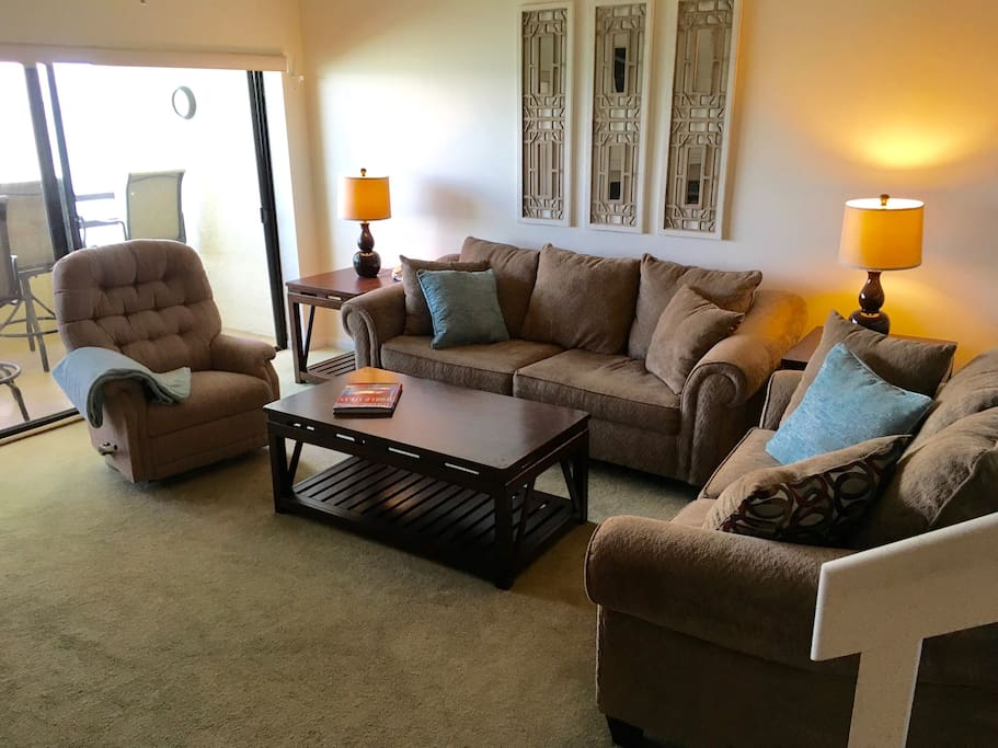 Family room with sleeper sofa