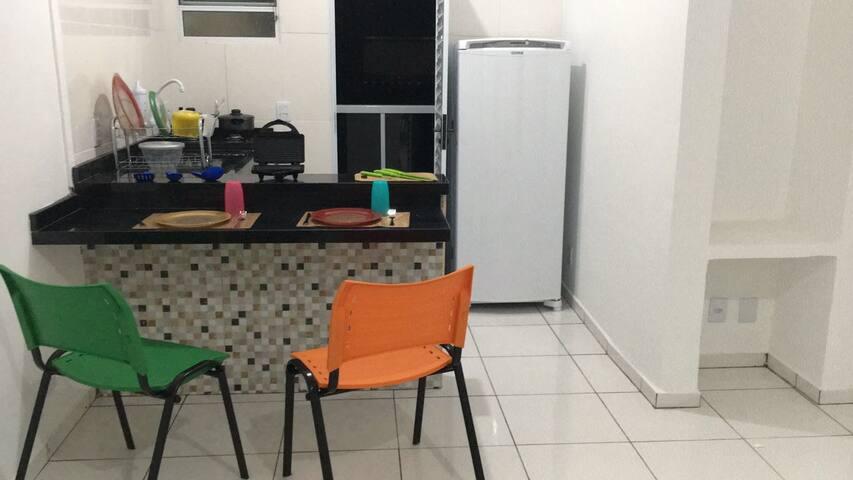 Apartamento com cozinha, garagem e churrasqueira 4