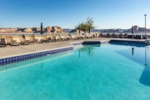 Sparkling pool with a beautiful backdrop views