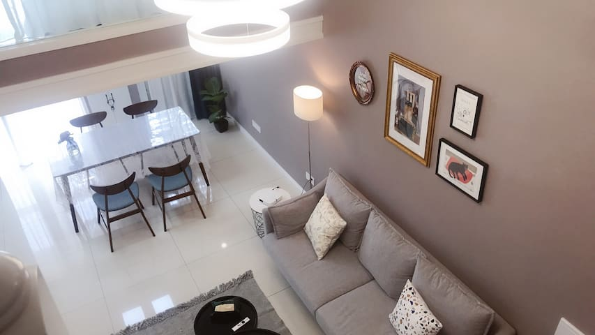 【喃舍·月亮与六便士】复式公寓 家庭影院 带厨房 两卧大床房
