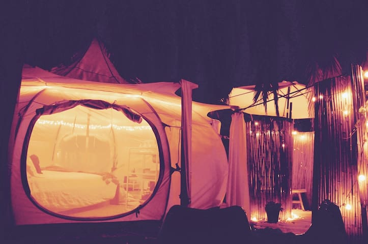 Carlsbad Glamping BelleTent outdoor bath & extras!