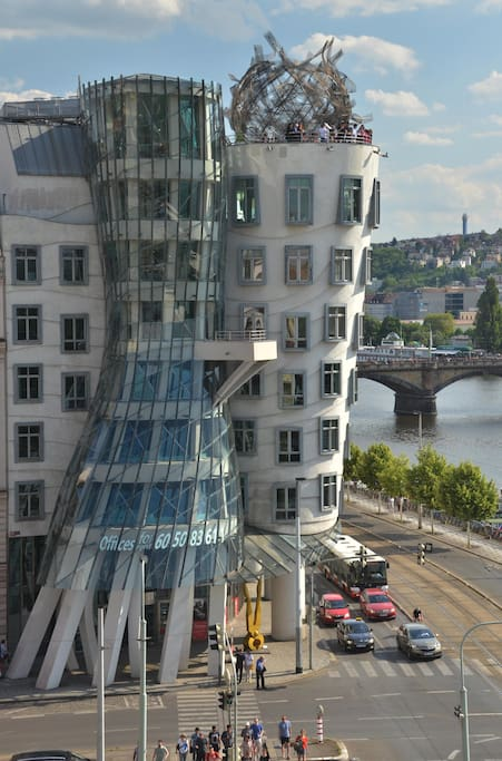 View of the Famous Dancing House