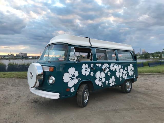 """Restored VW Camper """"Elvis"""" for New England Camping"""