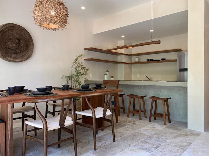 Amazing Boho Chic full equiped 2 BR & Private Pool