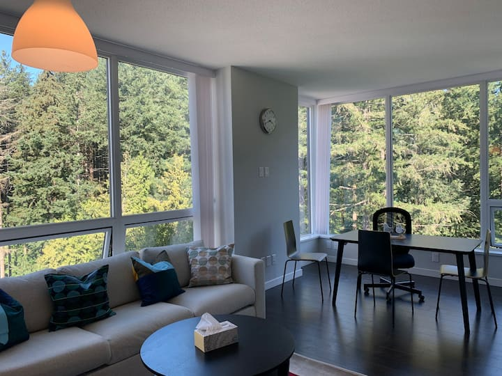 UBC spacious 2 bedrooms concrete condo at park