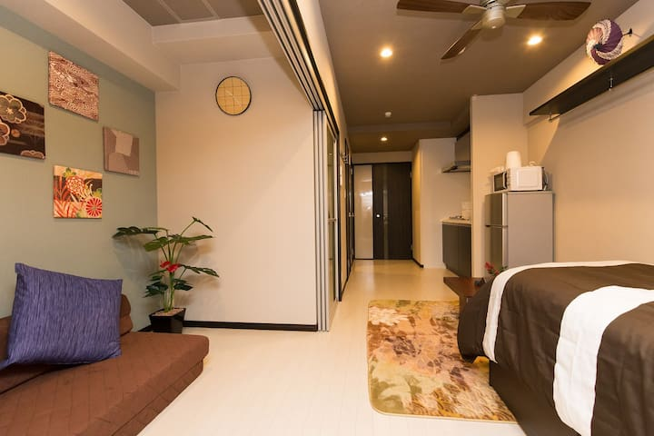 4min->STA!Namba! 4pax! $0Bike Rent! - 大阪市浪速区 - Apartment