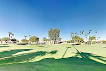 Practice your hole-in-one on the verdant fairway of Bermuda Dunes Country Club.