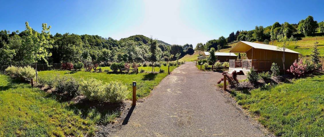Camping de la vallée du Rance, Aveyron, lodge A