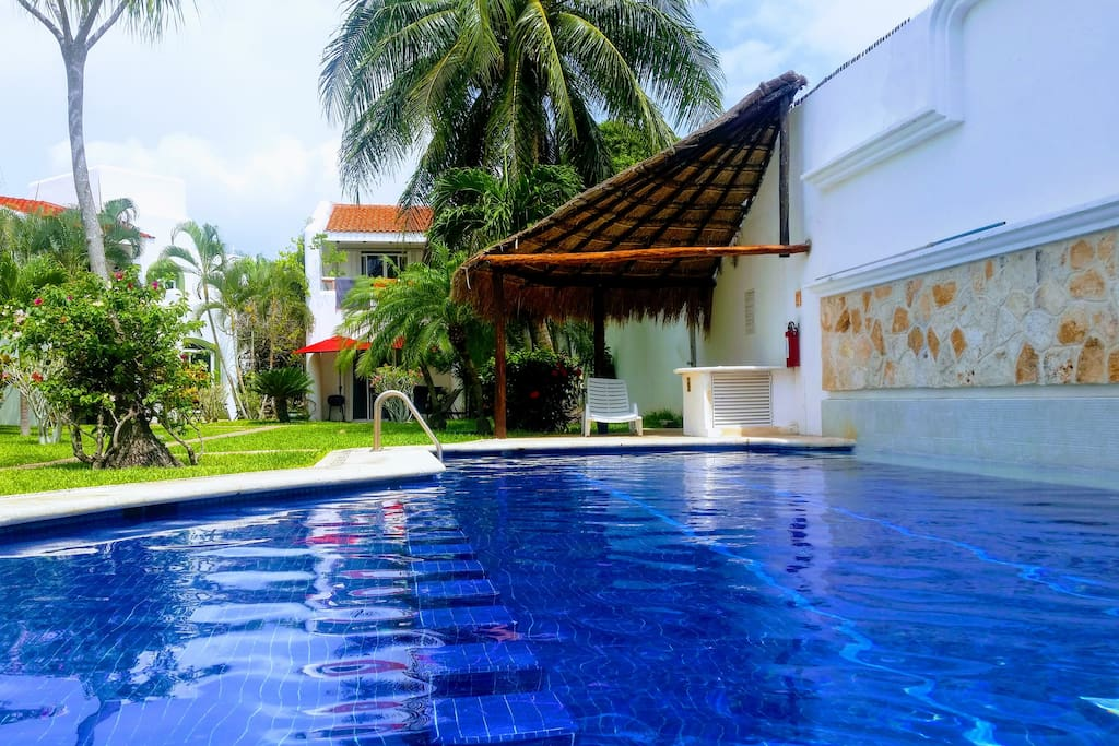 Lovely 3 Bedvilla In Playacar7 Min Frombeach 5th