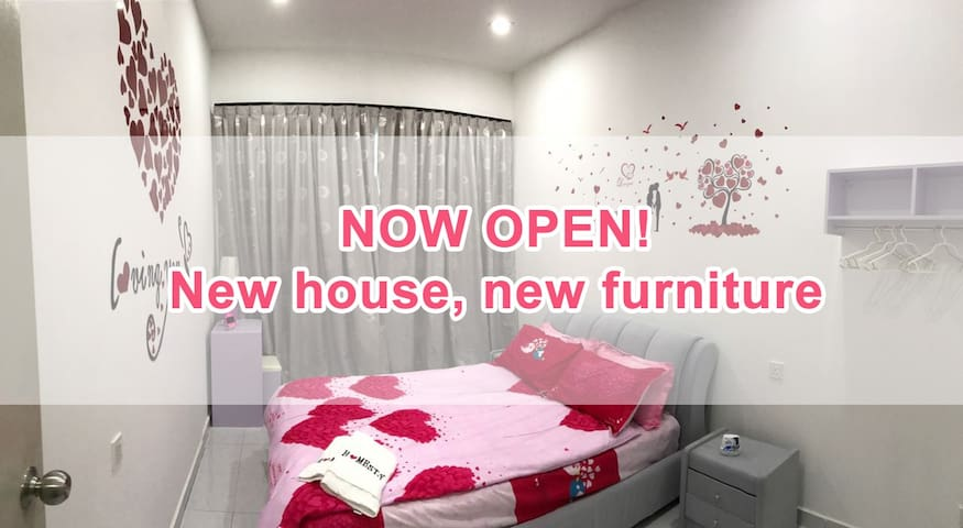Brand new & lovely 3BR Michelle's HomeStay - Kulai - Huis