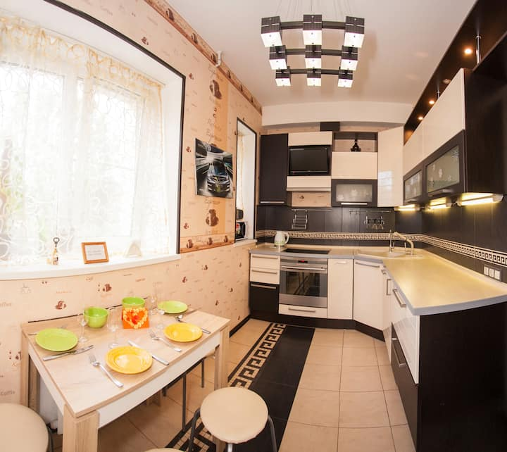 Sweet Appartment in Metallostroy with 2 bedrooms