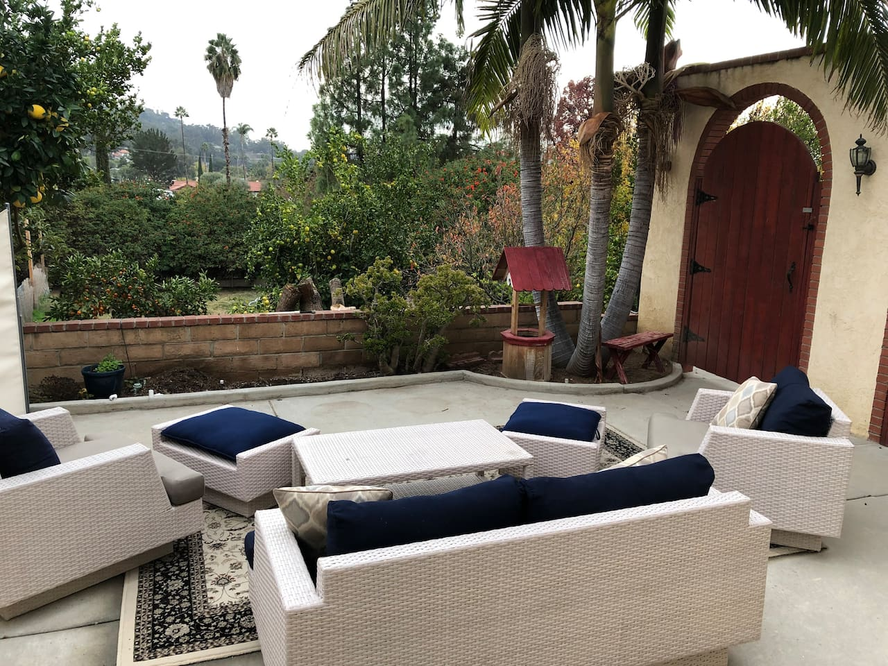 Patio with great views