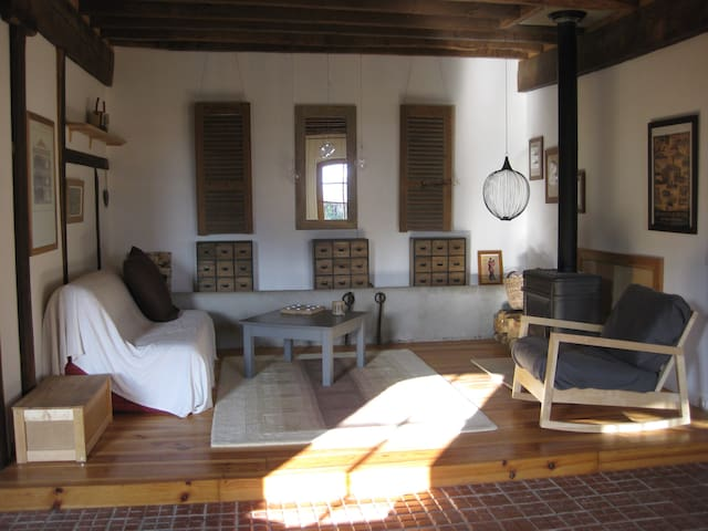 Loft dans une étable XIXè restaurée. - Saint-Lary-Boujean - Podkroví