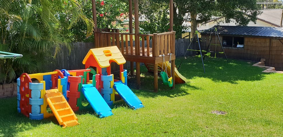 The kids will have hours of entertainment going from one play equipment to the next. Something for all ages.