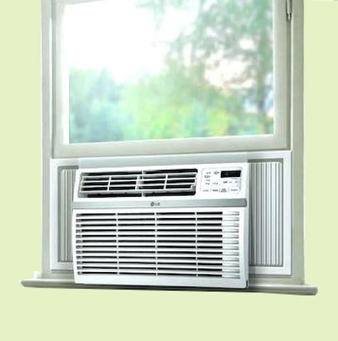 Window Air conditioner unit in the room