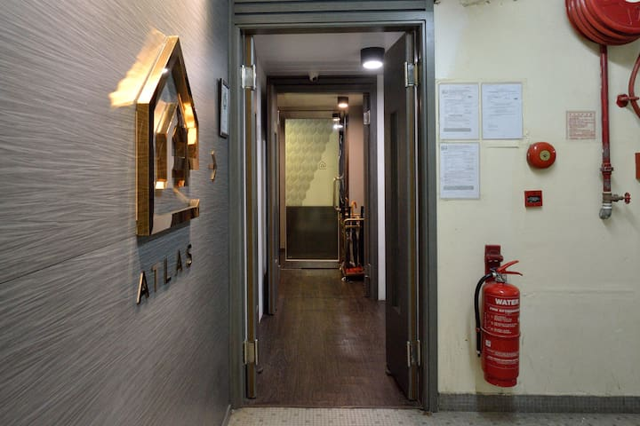 This is the main entrance to the hostel- come right in!