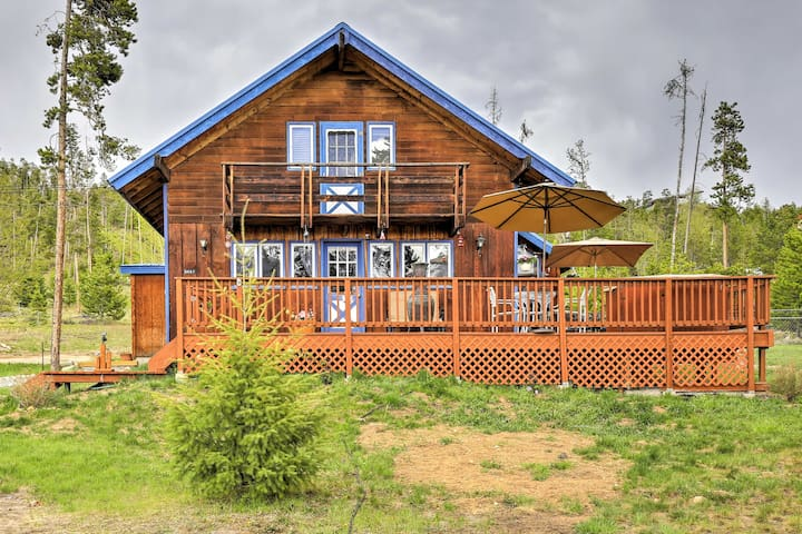 Quiet Ski Lodge on 1 Acre: Pet Friendly & BBQ Deck