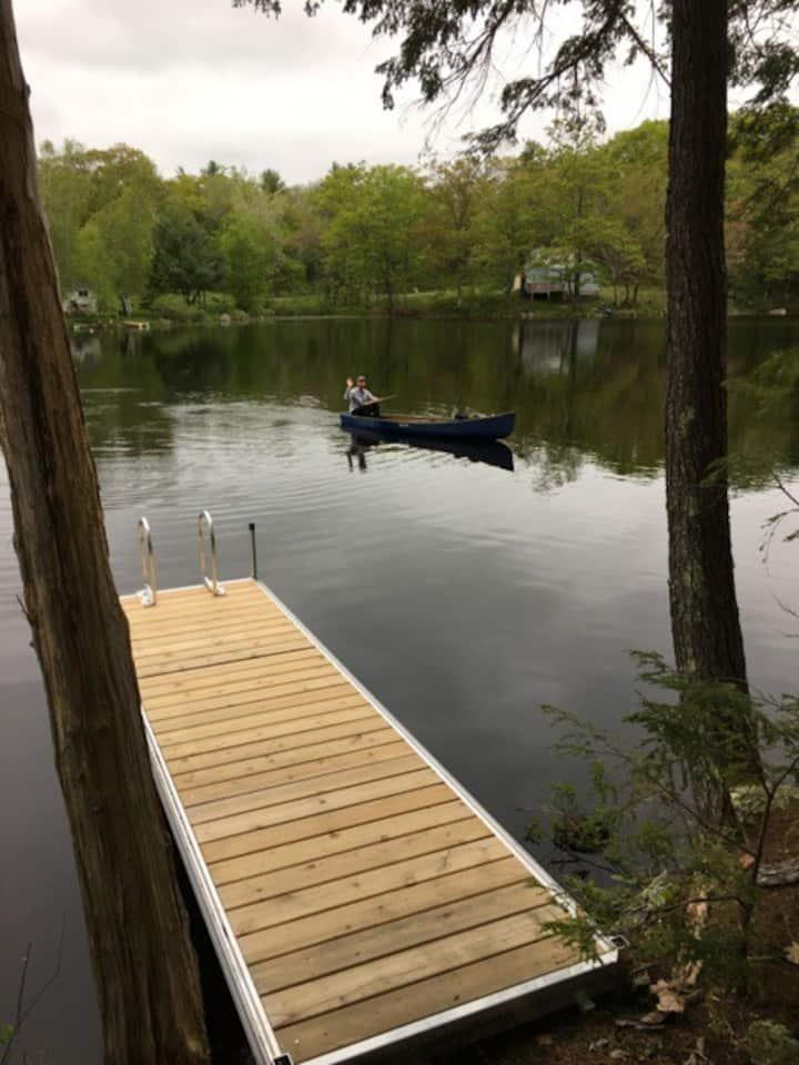Waterfront Backyard Camping, Canoe, Self Check-In