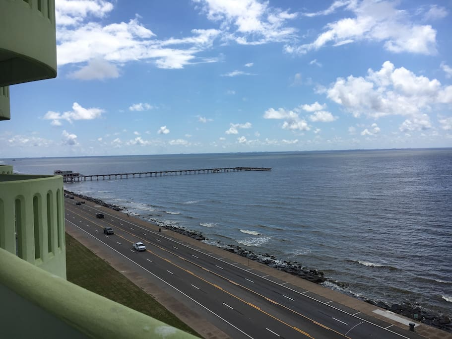 Located on the 10th floor, you will be amazed at the view.  Watch the pelicans soar by the balcony.