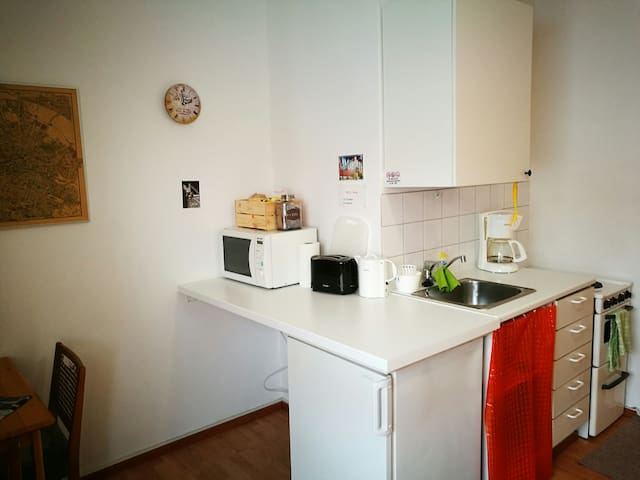 Urban flat with kingsize bed for 2 - Turku - Appartement