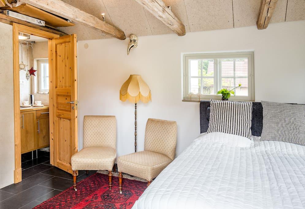 Sovrummet och pentryn