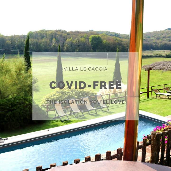 Tuscan Villa:Pool,Hot Tub,A/C,wi-fi,7bd near Siena