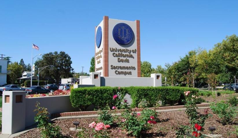 Close to UC Davis Campus