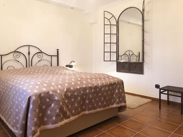 One of the 2 bedrooms, spacious and romantic