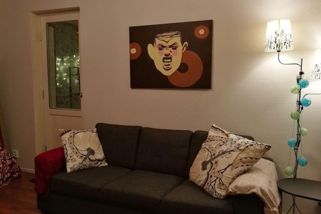 Winter time :) Livingroom sofa for 3.