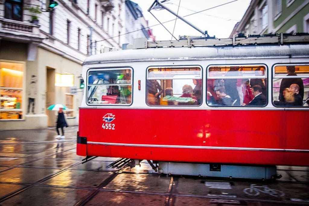 Simply going in old vienna tram is a great experience!