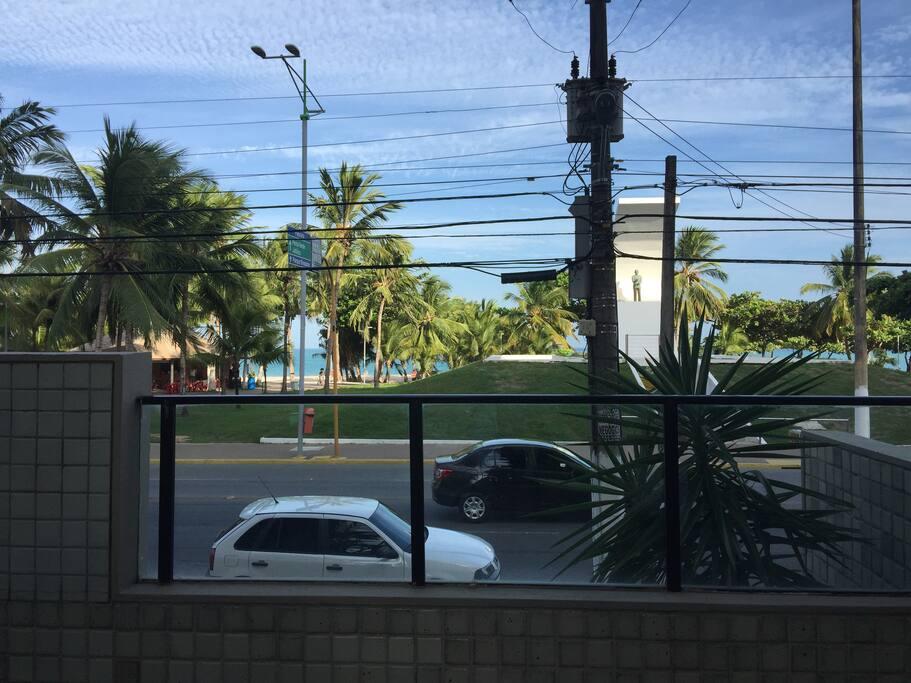 Vista da portaria do prédio