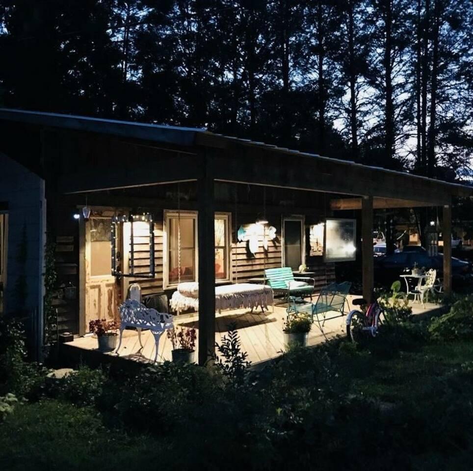 Twilight on the porch