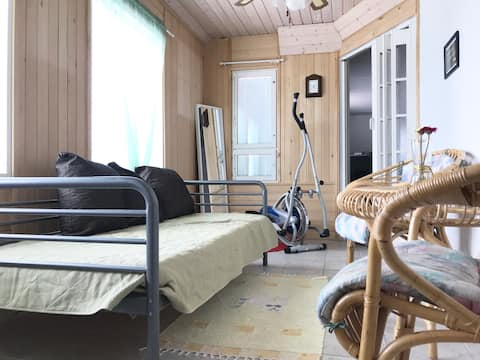 Airy And Bright Room In A Big House With Sauna