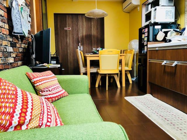 Green 双床房免费自行车优越的地理位置