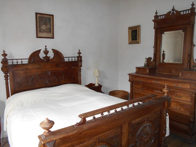 main bedroom, great view to the Aveyron Gorge