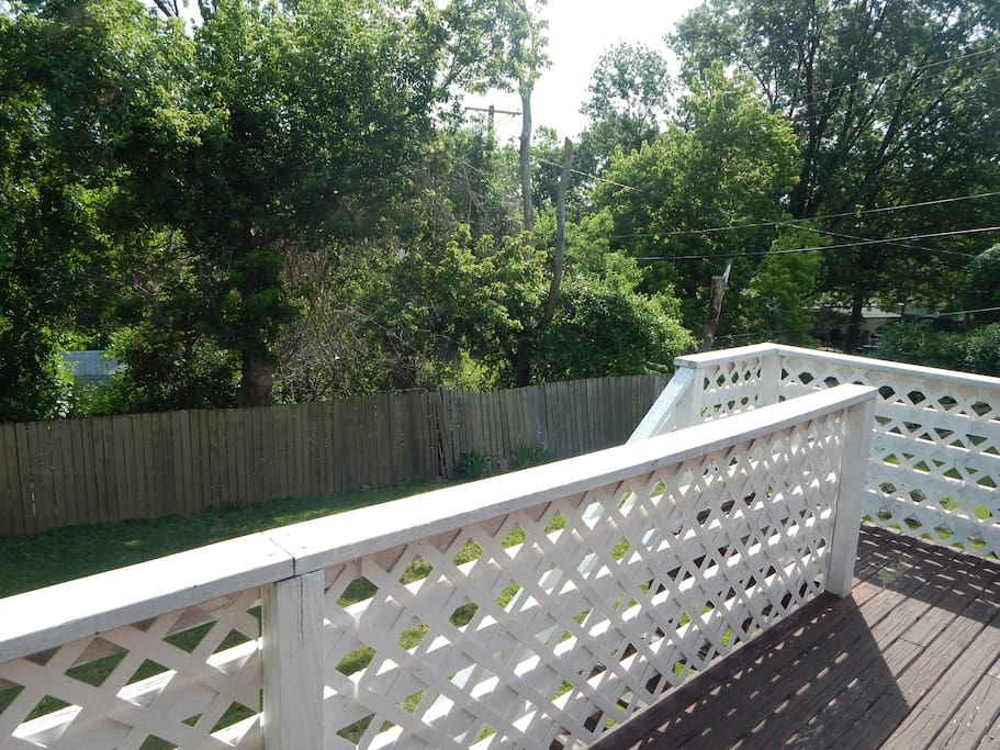 Enjoy the peaceful backyard