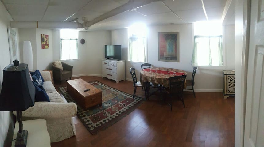 Bright cozy walk out basement apt. - Hudson - Huoneisto