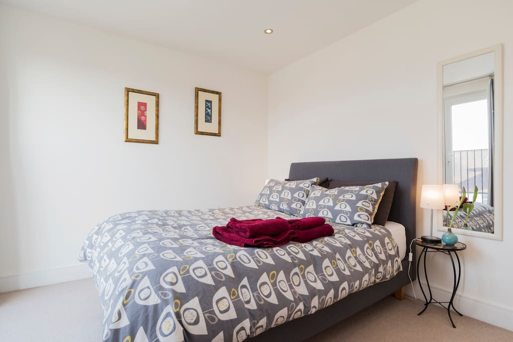 Comfortable and quiet at the top of the house, with your own private bathroom, toiletries and towels provided