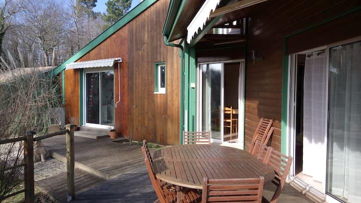 Villa d'architecte en bois 3 chbres