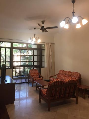 Living room - with airconditioning, fan, TV