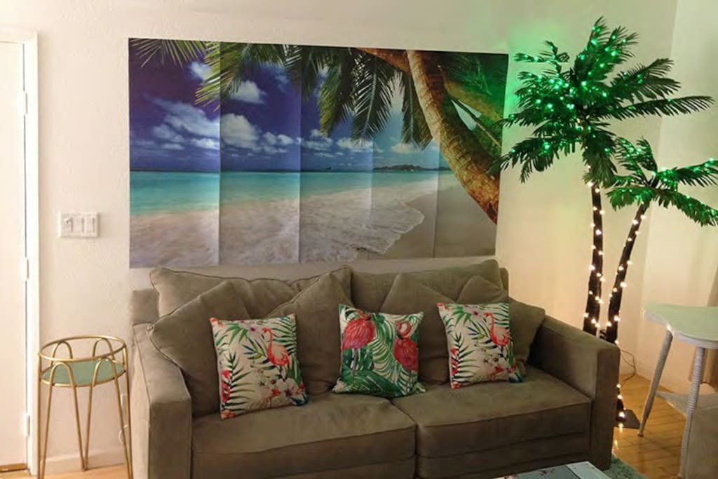 Life is a beach living room