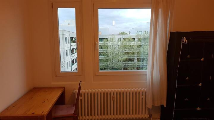 Sunny room in a central well connected flat share