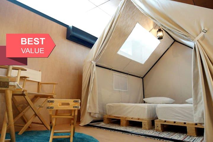 Twin Single Camp Site in KL Bukit Bintang