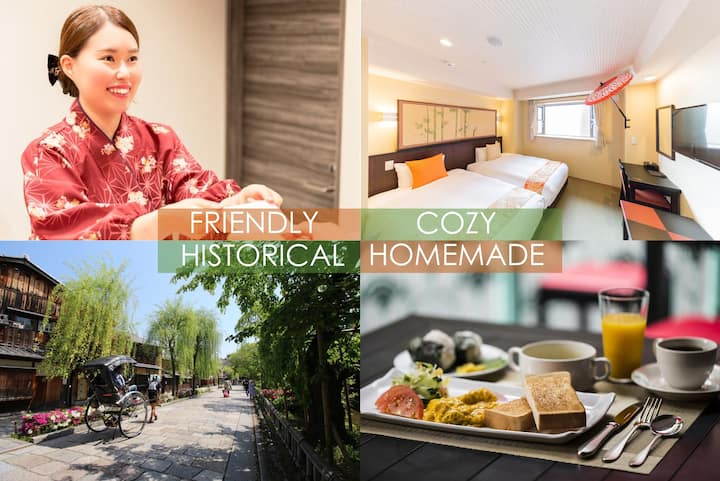 Kyoto INN Gion 18㎡/twin bed room/free breakfast