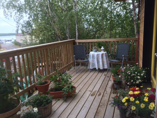 Suite Deck and view of Great Slave Lake