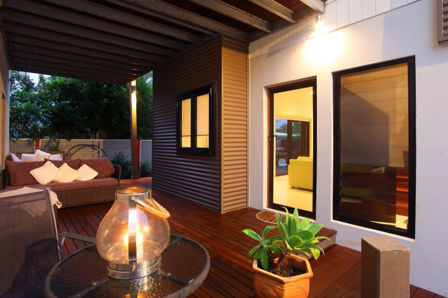 Two lovely outdoor areas for you to relax